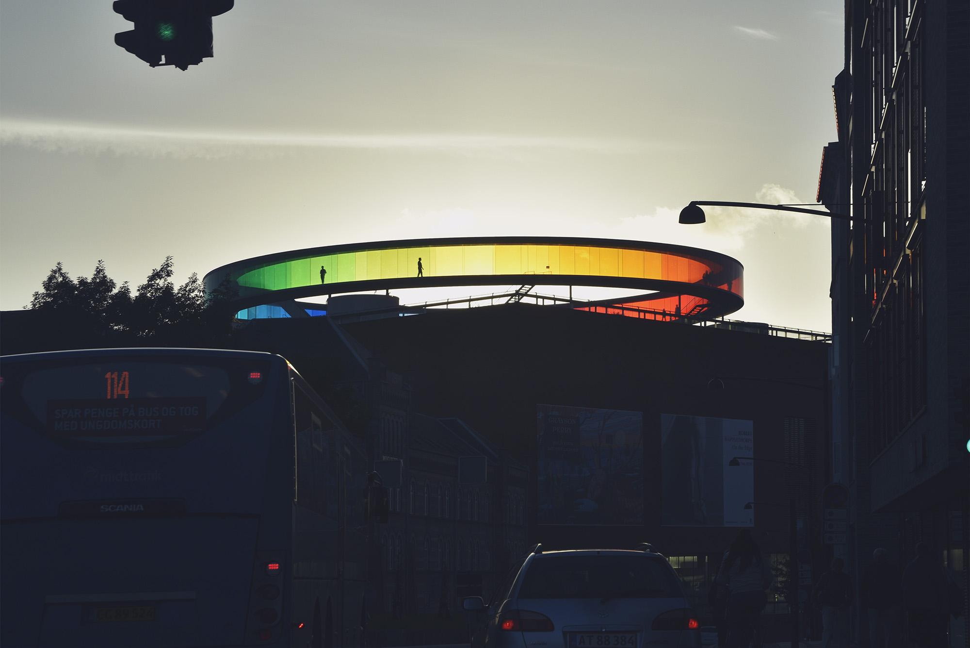 Aarhus ARos Art museum - Rainbow panorama