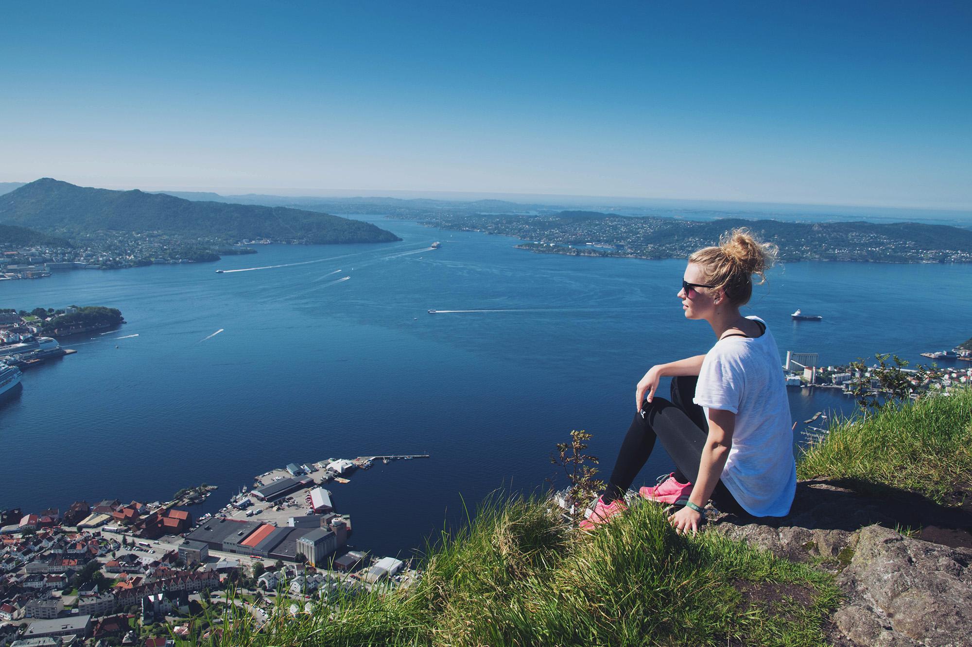 Sandviksfjellet, Stolzen, Bergen, Norway.