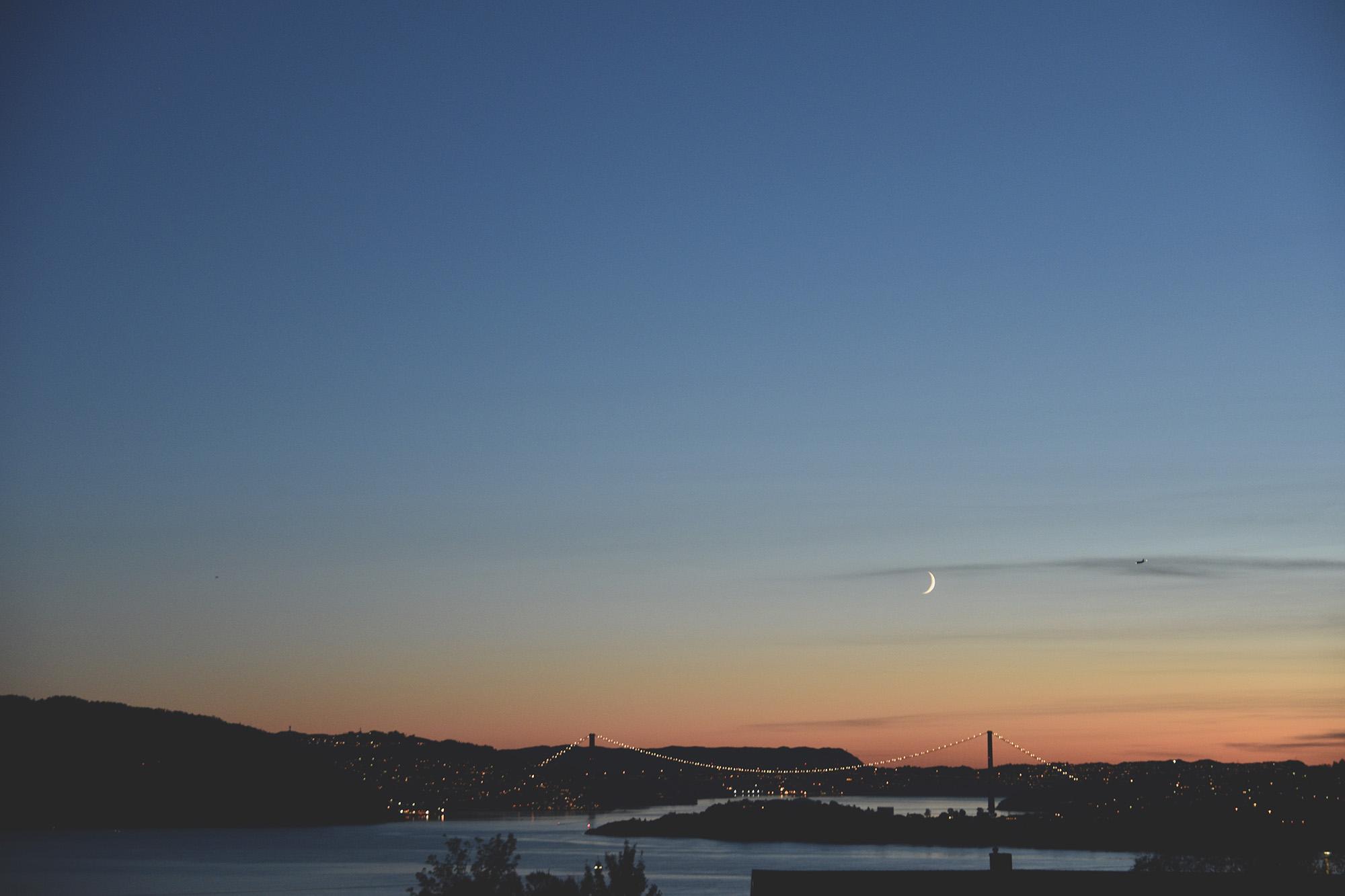 Bergen, sunset, Sandviken